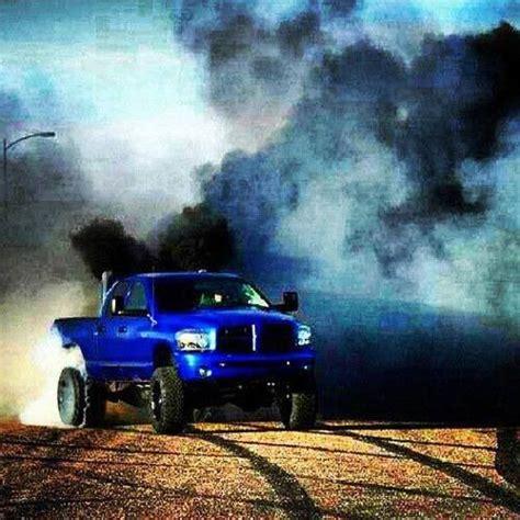 cummins truck rollin coal blue cummins diesel dodge roll coal diesel power