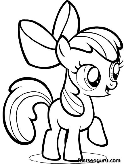 my little pony friendship is magic coloring pages pdf printable my little pony friendship is magic apple bloom