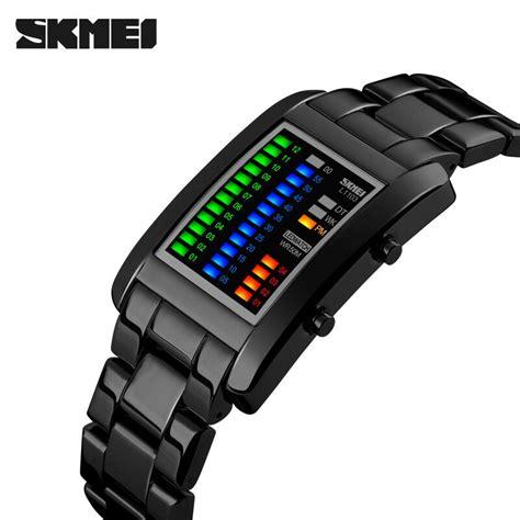 Jam Tangan Unisex Led skmei jam tangan led unik 1103a black jakartanotebook