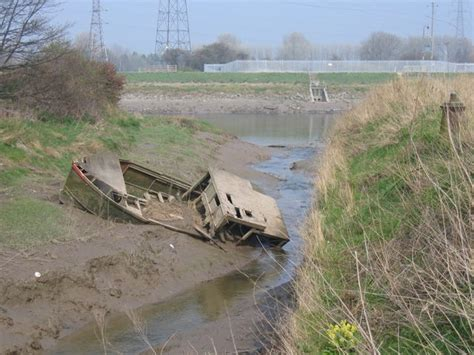 sunken river boats file sunken boat and the river dee geograph org uk