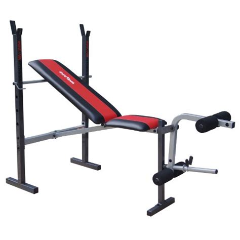 standard bench press bar elite fitness deluxe standard weight bench aerobicore