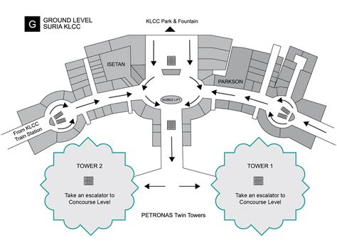 Suria Klcc Floor Plan | petronas twin towers
