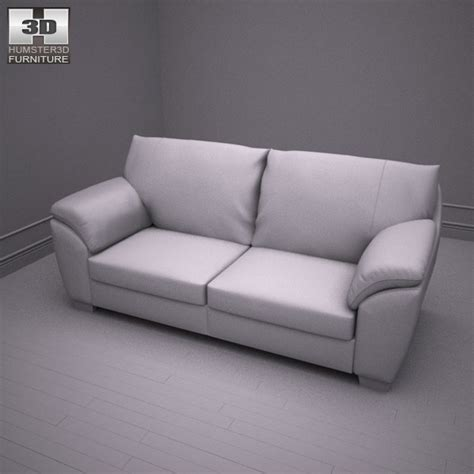 ikea vreta three seat sofa 3d model humster3d