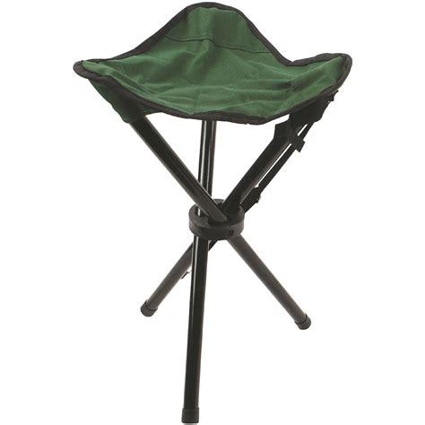 highlander folding  leg steel tripod stool camping festival fishing chair green ebay