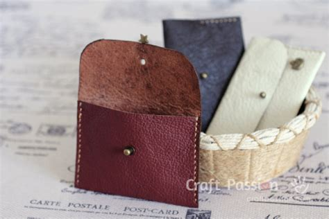 the leather pouch leather coin purse free tutorial craft