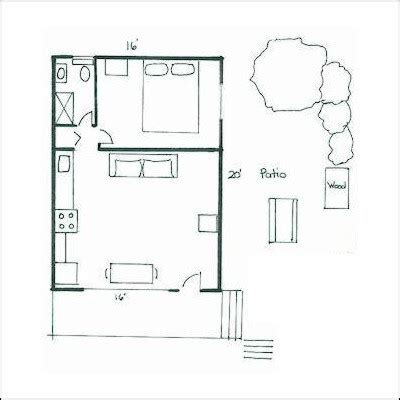 one bedroom cottage floor plans floor plans on cabin plans guest houses and flat