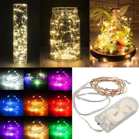 2m 20 led battery operated led copper wire string lights