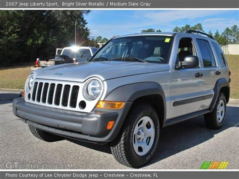 silver jeep liberty 2007 bright silver metallic 2007 jeep liberty sport medium