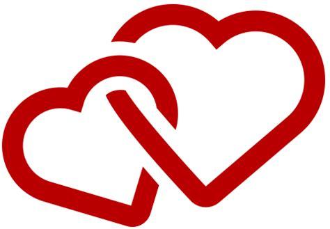 imagenes de dos corazones juntos iconos de corazones cupidos y figuras de amor