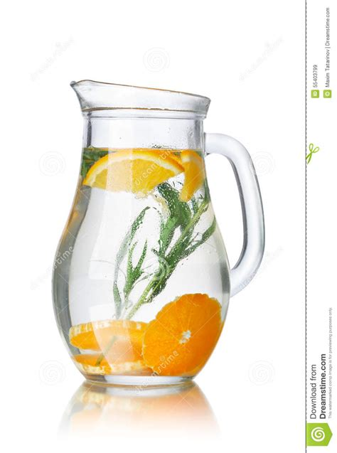 Detox Water Pitcher by Detox Water With Tarragon Stock Photo Image 55403799
