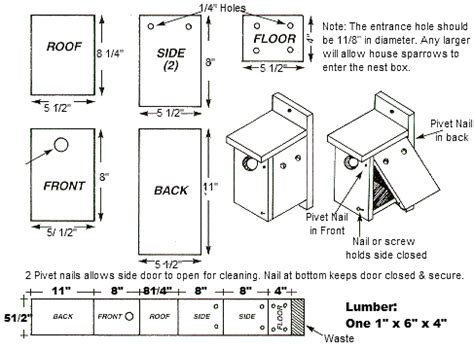 wren house plans pdf bluebird birdhouse blueprints