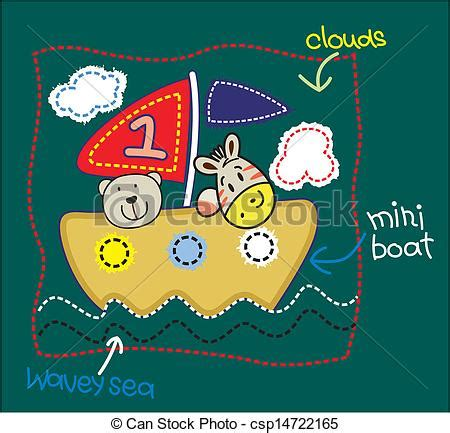 boat ride drawing vector little bear boat ride vector drawing bears and