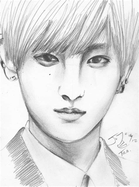 sketchbook exo exo m tao pencil sketch by takojojo15 on deviantart