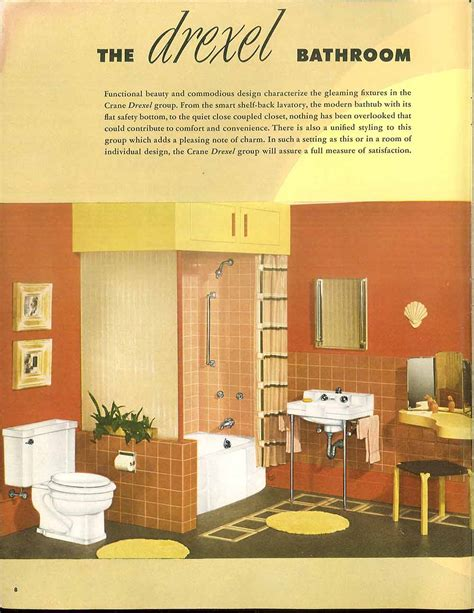 orange and yellow bathroom 24 pages of vintage bathroom design ideas from crane