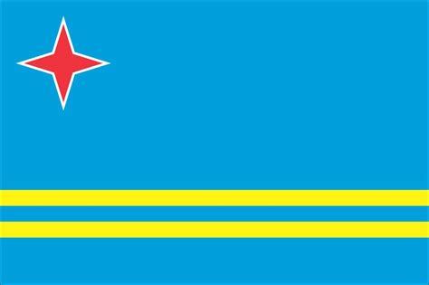 aruba color history of aruban flag