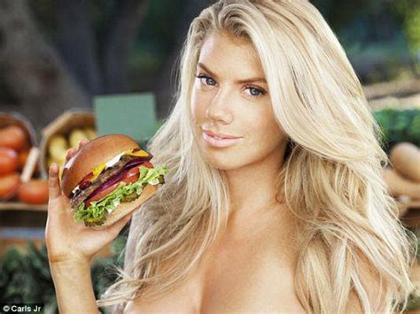 hardees commercial velveeta actress charlotte mckinney strips off for gq a year on from super