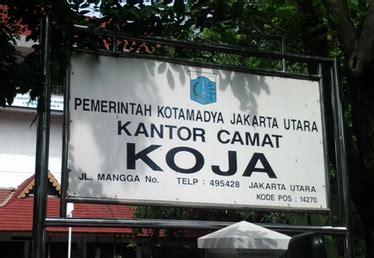 kode pos kecamatan koja kode pos indonesia