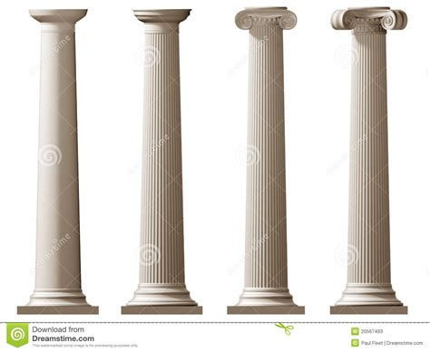 Roman Floor Plan by Roman Doric And Ionic Columns Stock Photos Image 20567493
