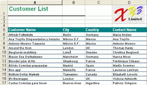 Excel Customer List Template by Xlreportgen How To Output Report To Excel