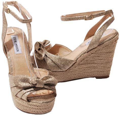 steve madden sparkly high heels steve madden black or gold glisten glitter platform wedge