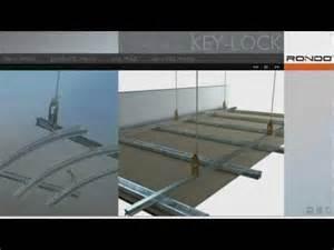 Ceiling Tile Suspension Framing Rondo Key Lock 174 Concealed Suspended Ceiling System