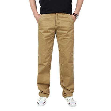 comfortable cargo pants spring mens casual cotton loose solid color cargo pants