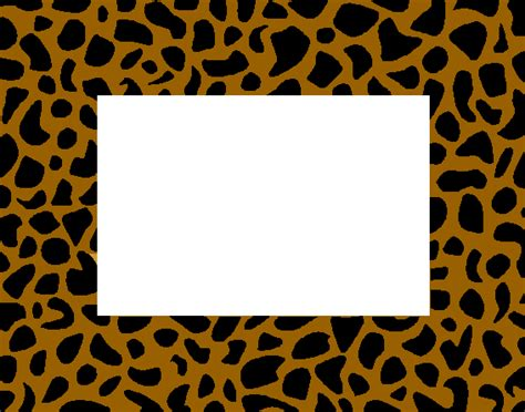 6 best images of free printable animal prints animal leopard print border template clipart best