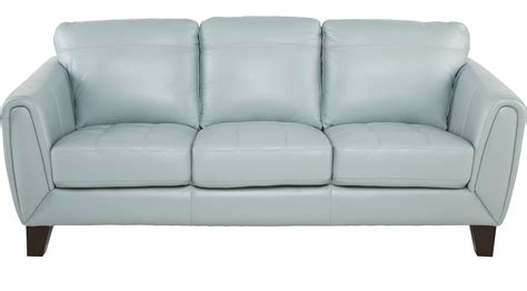 light blue leather sofa livorno aqua light blue leather sofa
