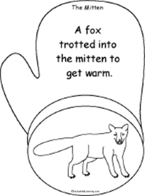 mitten tracing cutting template enchantedlearning the mitten a printable book enchantedlearning
