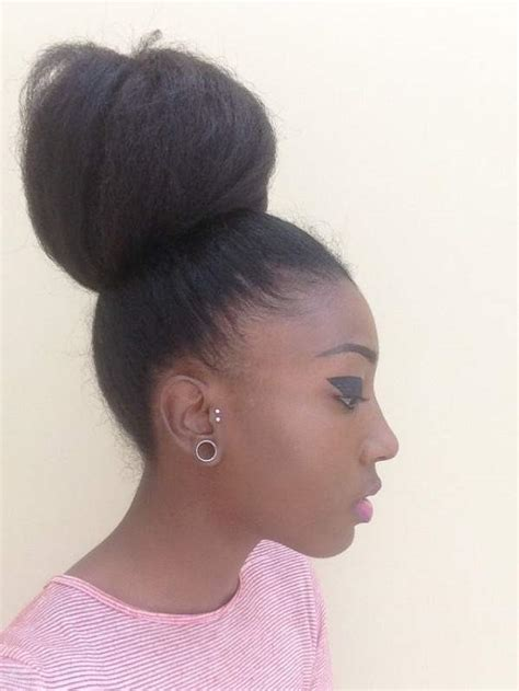 black hair buns high bun hairstyle her bun is amazing hair