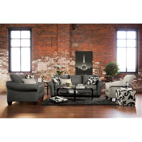 Grey Living Room Chair Colette Sofa Loveseat And Accent Chair Set Gray Value City Furniture