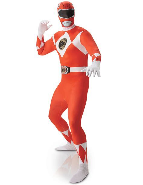 Red Power Rangers? Second Skin costume for men: Adults
