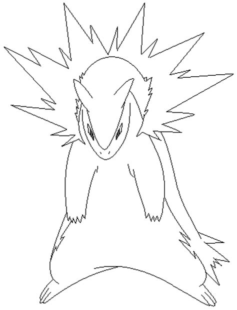 pokemon coloring pages typhlosion typhlosion lineart 1 by michy123 on deviantart