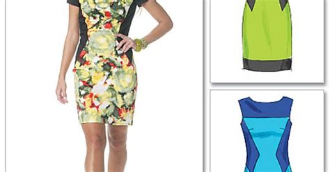 hourglass pattern in c lined color block dress sewing patterns projects
