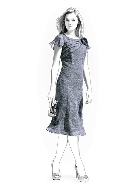 Pattern Dress Chiffon | chiffon dress sewing pattern 4266 made to measure