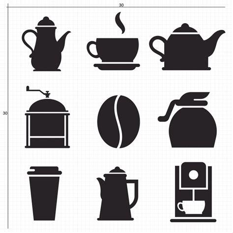 jual sticker icon kopi coffee stiker dinding kaca cafe