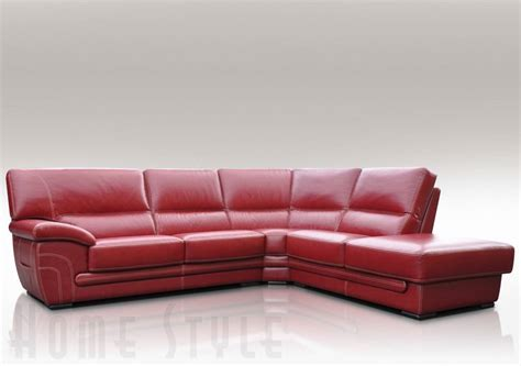 Leather Corner by Cerise Leather Corner Sofa
