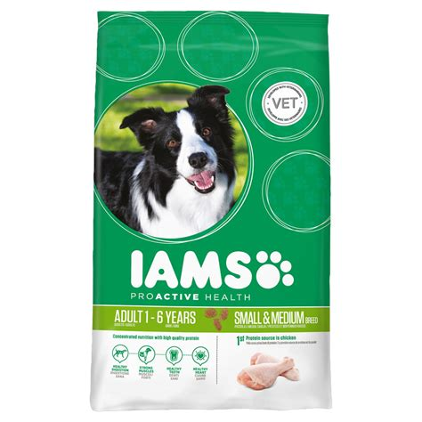 food for small dogs iams food chicken for small and medium dogs 3kg