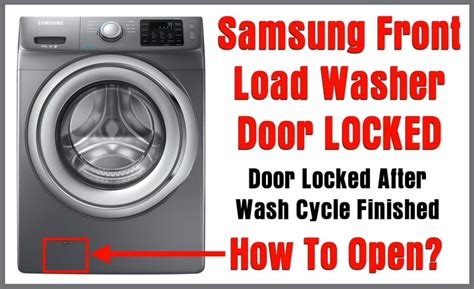 Samsung Front Load Washer Door Will Not Lock Samsung Front Load Washer Door Locked Door Will Not Open After Wash Cycle Removeandreplace