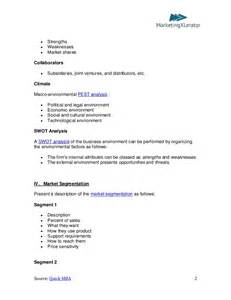 easy marketing plan template basic marketing plan template by quickmba