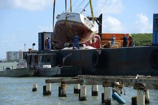 boat salvage puerto rico hurricane maria salvage crews remove wrecked boat from