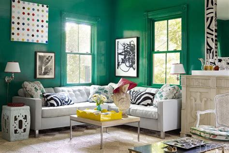 Emerald Living Room by Colour Crush Emerald Green Robinson