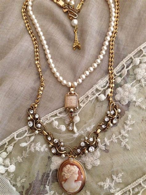 how to make vintage jewelry inspired strand assemblage necklace using