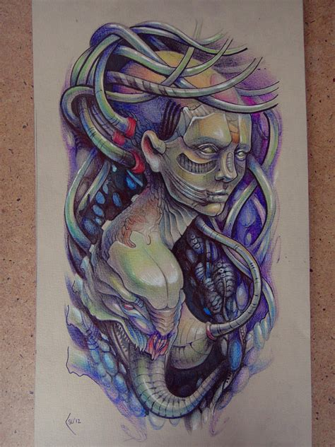 tattoos biomechanical designs biomechanical images designs