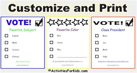 voting ballot template back to school word search activities for