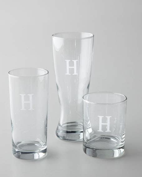 Monogrammed Barware by Monogrammed Glass Barware