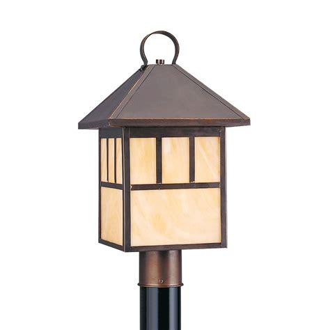 Antique Post Lights Outdoor Sea Gull Lighting Prairie Statement 1 Light Outdoor Antique Bronze Post Light 8207en 71 The