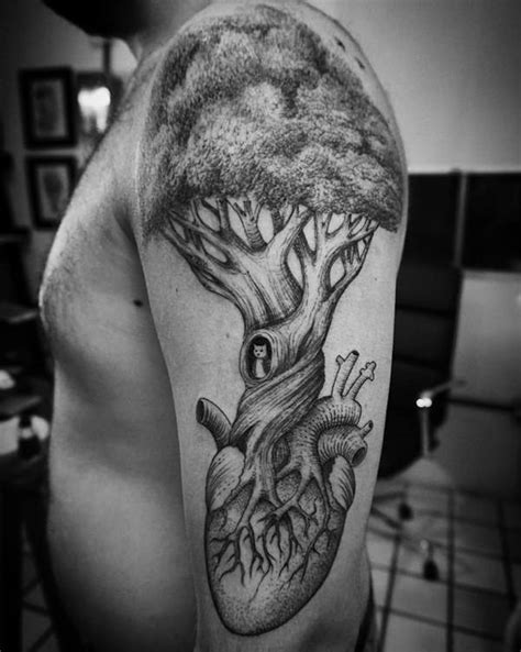heart quarter sleeve tattoo 68 meaningful tree tattoos ideas and designs