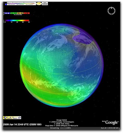 google images earth from space caps