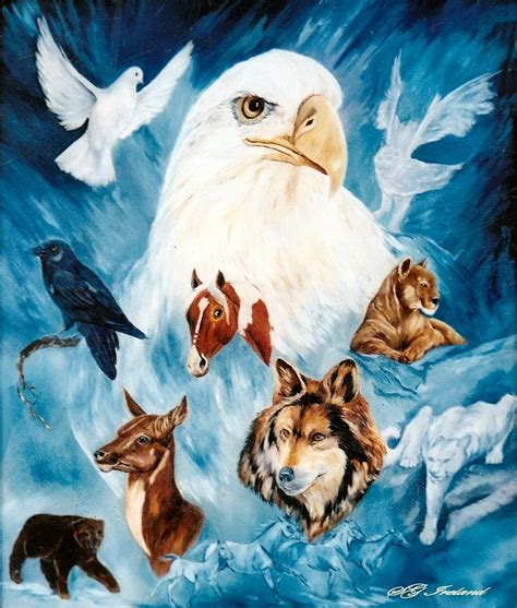 spirit animal spirit animals painting by sue ireland
